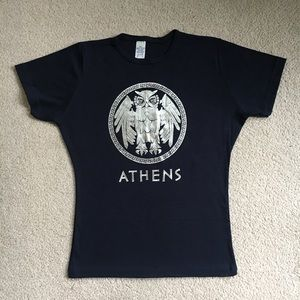 Tops - Navy Blue Fitted T Shirt from Greece